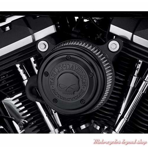 Enjoliveur de filtre à air Skull Harley-Davidson, noir, visuel, 29400366