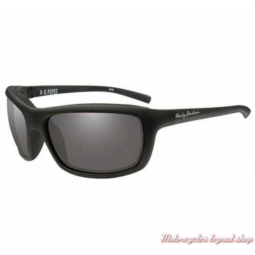 Lunettes solaire Pipes Harley-Davidson femme, noir mat, verres gris, HAPIP02