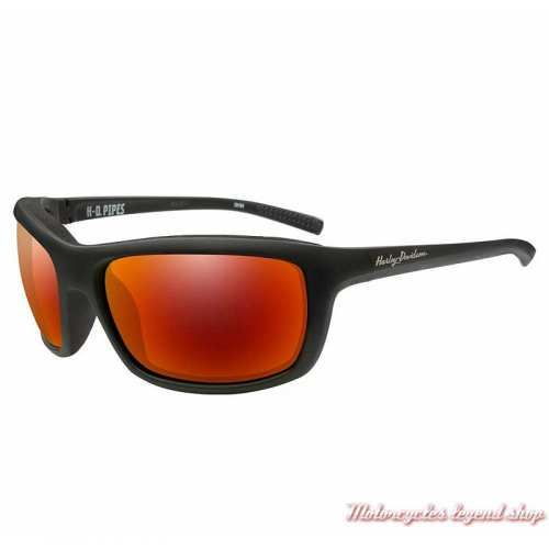 Lunettes solaire Pipes Harley-Davidson femme, noir mat, verres rouges, HAPIP13