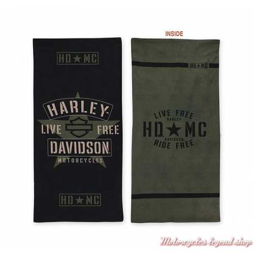 Tube Resolute Harley-Davidson, kaki, noir, military, MHW34394