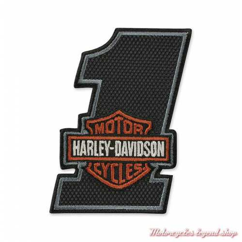 Patch Number One Bar & Shield Harley-Davidson, texturé, brodé, EM035642