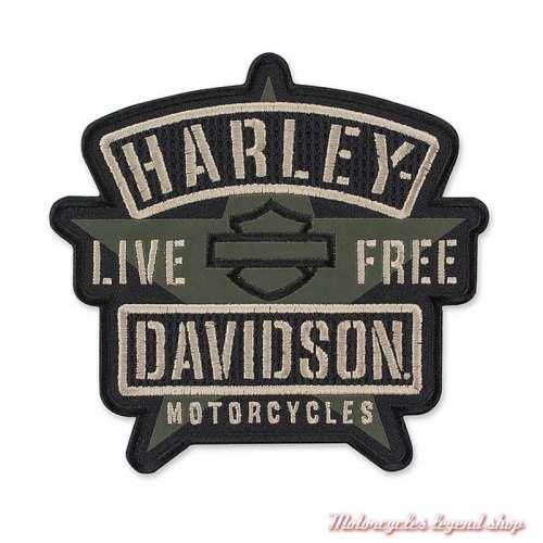 Patch Resolute Harley-Davidson, étoile militaire, kaki, noir, EM343942