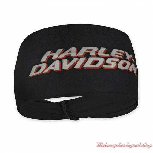 Bandeau cheveux Harley-Davidson femme, noir, polyester, HP51630