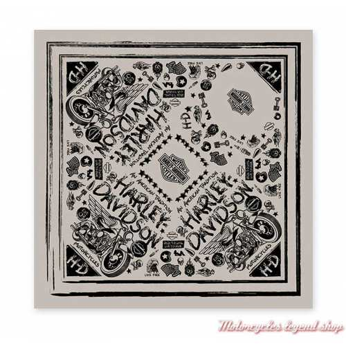 Bandana Black Magic Harley-Davidson, beige, noir, polyester, BA26712