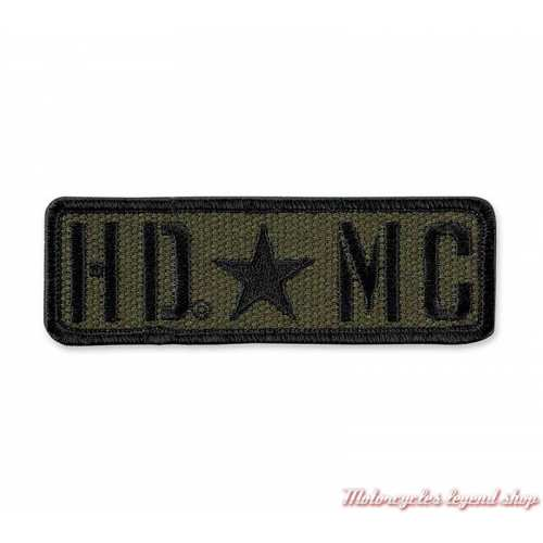 Patch Resolute Harley-Davidson, insigne HDMC, kaki, noir, EM343532