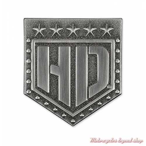 Pin's Resolute Harley-Davidson, métal brossé, P343062