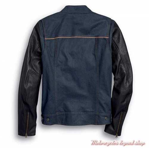 Veste Arterial Denim Harley-Davidson homme, jean cordura, cuir, homologué CE, dos, 98122-20EM