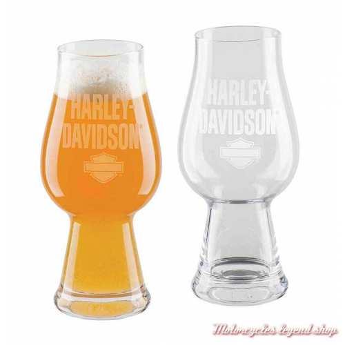 2 Verres à bière IPA Harley-Davidson, 45 cl, trasparent, HDL-18795