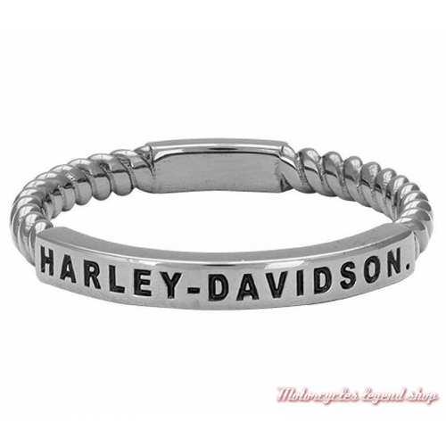 Bague argent Rope Harley-Davidson femme