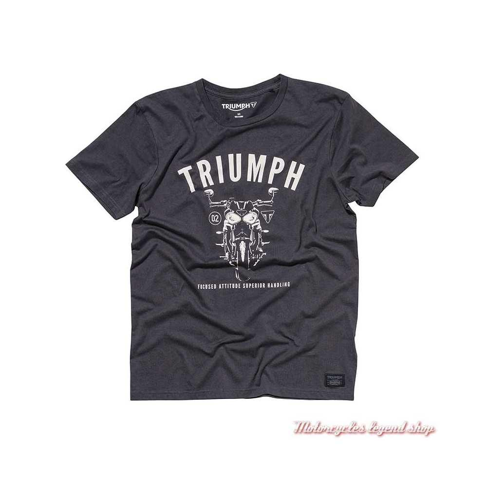 Tee-shirt Cann Speed Triple Triumph homme, noir, manches courtes, coton, MTSA19108