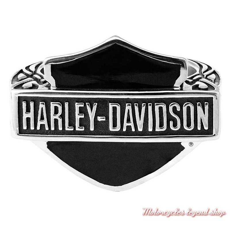 Bague acier Bar & Shield Harley-Davidson homme HSR0062
