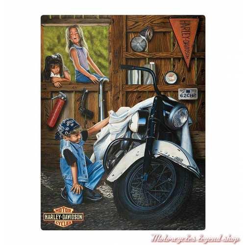 Plaque métal Curious Kids Harley-Davidson