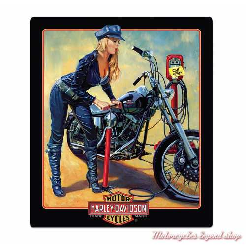 Plaque métal Pumper Up Babe Harley-Davidson