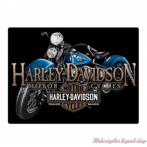 Plaque métal Old Blue Harley-Davidson, Ande Rooney 2011331