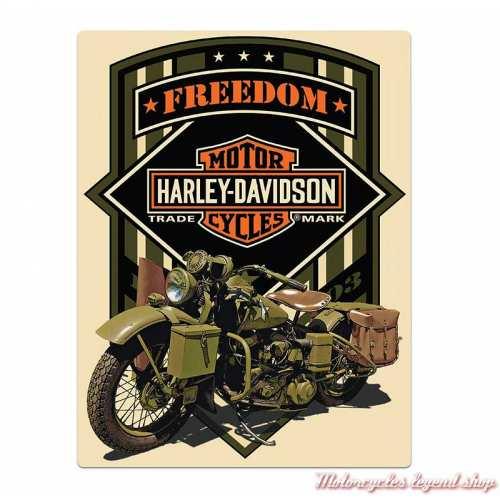 Plaque métal Freedom Green Harley-Davidson