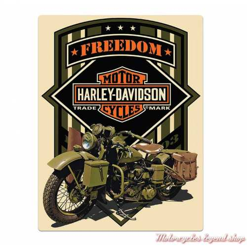 Plaque métal Freedom Green Harley-Davidson
