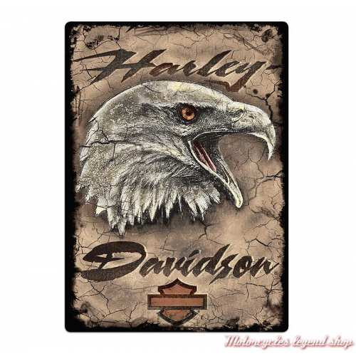 Plaque métal Eagle Card Harley-Davidson