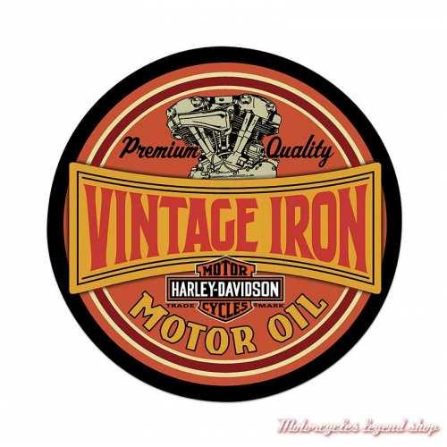 Plaque métal Vintage Iron Harley-Davidson, Ande Rooney 2011491