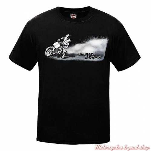 Tee-shirt 1st Place Harley-Davidson homme, noir, manches courtes, Cornouaille Moto Quimper Bretagne