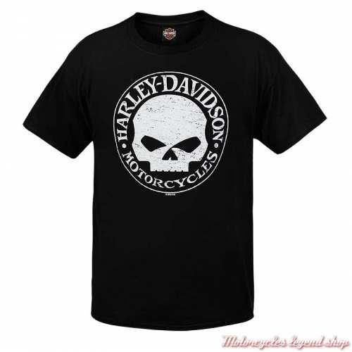 Tee-shirt G Stress Harley-Davidson homme, noir, manches courtes, Cornouaille Moto Quimper Bretagne