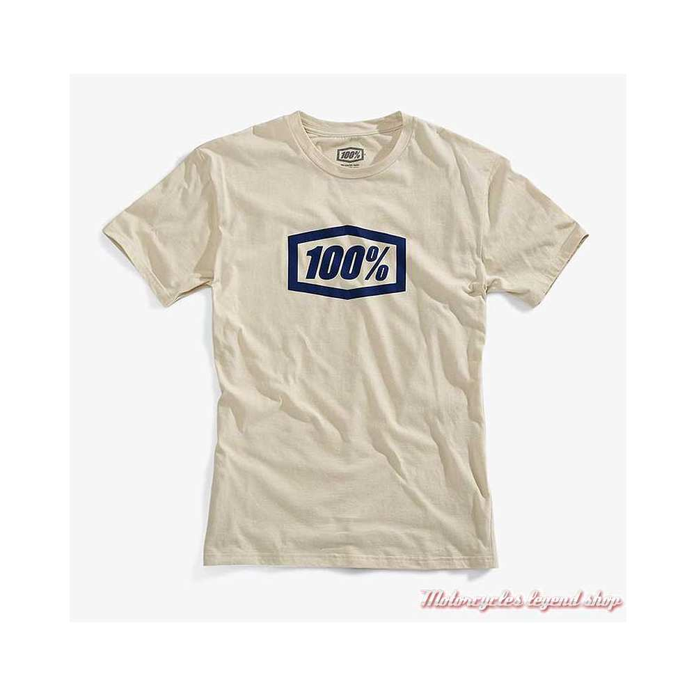 Tee-shirt Essential homme 100%, beige, manches courtes, coton