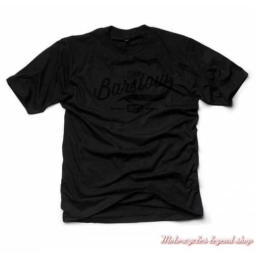 Tee-shirt The Barstow homme 100%, noir, manches courtes, coton