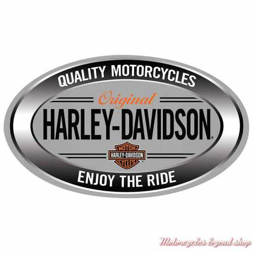 Plaque métal Enjoy Ride Harley-Davidson, ovale, Ande Rooney 2011591