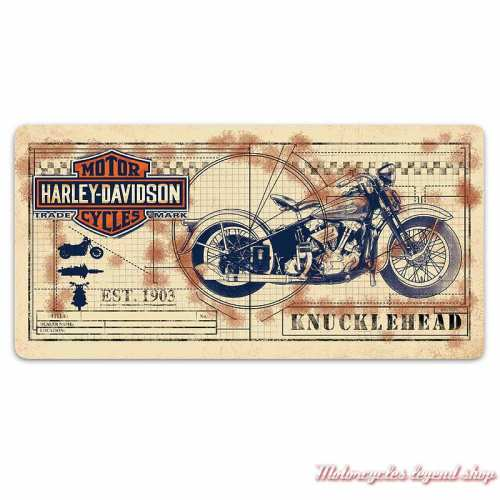 Plaque métal Knucklehead Print Harley-Davidson, Ande Rooney 2011991