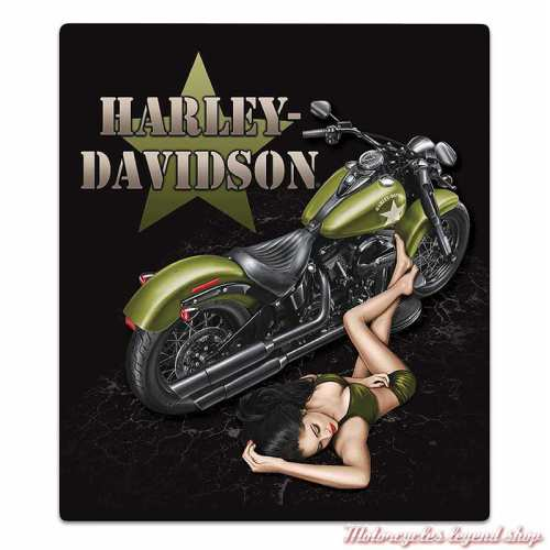 Plaque métal Duty Calls Harley-Davidson, Ande Rooney 2012031