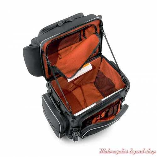 Sac Touring Premium Onyx Harley-Davidson, polyester noir, intérieur, 93300103