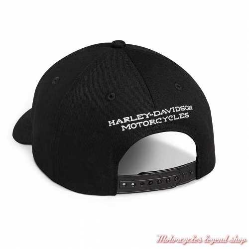 Casquette Ride Free Harley-Davidson homme, noir, coton, dos, 99402-20VM