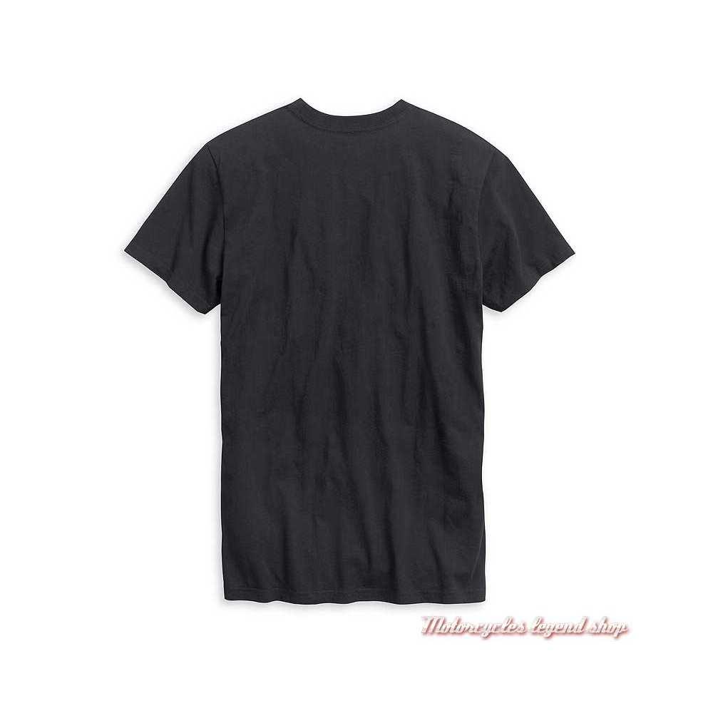 Tee-shirt Racing Harley-Davidson homme, noir, manches courtes, coton, dos, 99021-20VM