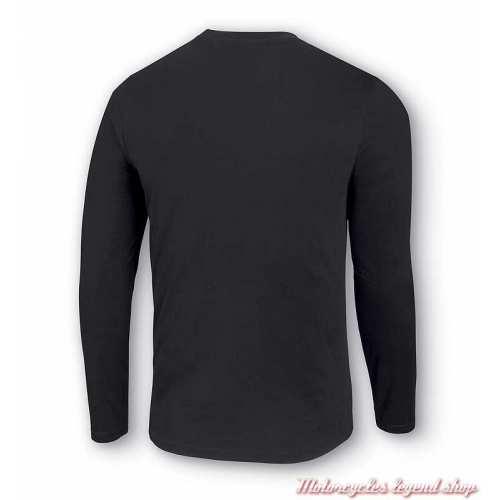 Tee-shirt Logo Bar & Shield Harley-Davidson homme, noir, manches longues, coton, dos, 99028-20VM