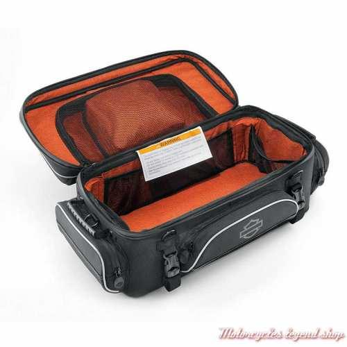 Sac Tour Pak Premium Onyx Harley-Davidson polyester noir, intérieur, 93300123