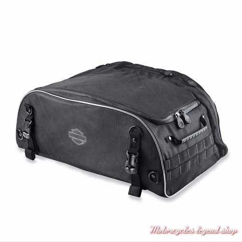 Sac Tour Pak pliable Premium Onyx Harley-Davidson, polyester noir, 93300124