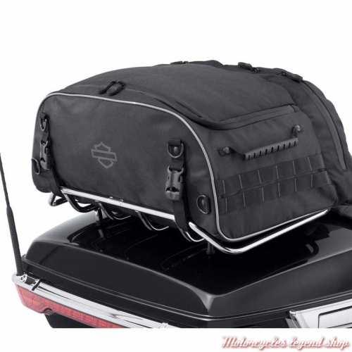 Sac Tour Pak pliable Premium Onyx Harley-Davidson, polyester noir, visuel, 93300124