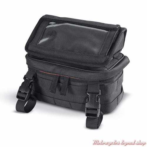 Sacoche de guidon Harley-Davidson, tactile, polyester noir, imperméable, 93300122