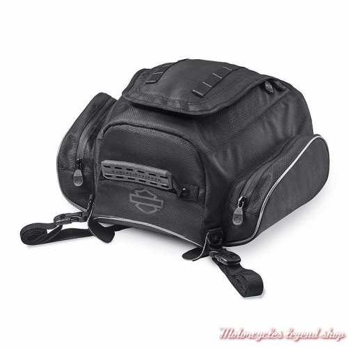 Sacoche arrière Premium Onyx Harley-Davidson, polyester noir, 93300106