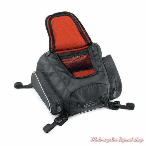 Sacoche arrière Premium Onyx Harley-Davidson, polyester noir, intérieur, 93300106