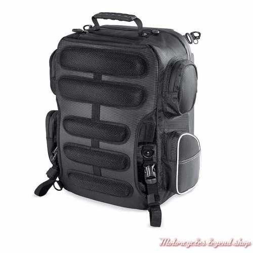 Sac Week-end Premium Onyx Harley-Davidson, sac à dos, polyester noir, dos, 93300105