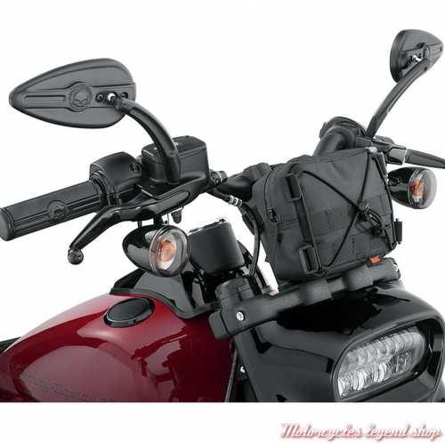 Sacoche de guidon Overwatch Harley-Davidson, polyester noir, visuel, 93300121