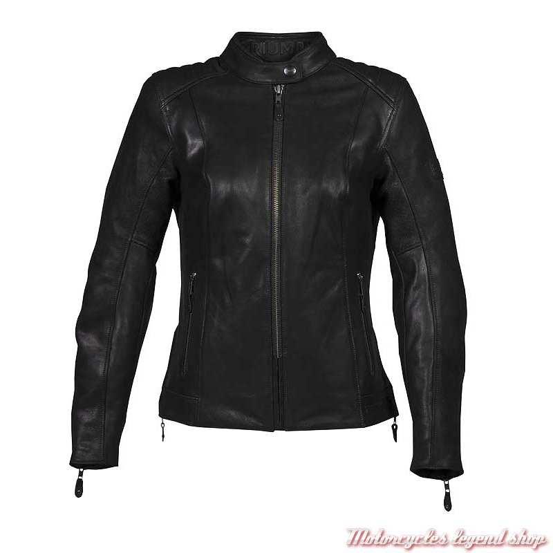 Blouson cuir Roxbury Triumph femme, noir, MLLA19102
