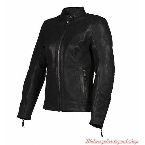 Blouson cuir Roxbury Triumph femme, noir, MLLA19102-2