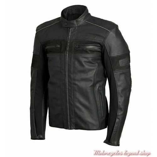 Blouson cuir Zora Gore-Tex Triumph homme, noir, MLPS19103-2