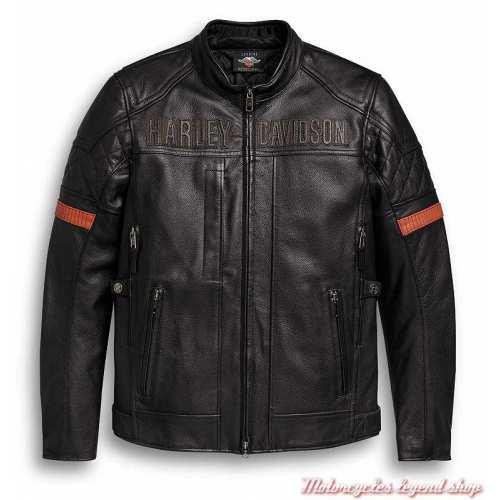 Blouson cuir Vanocker waterproof Harley-Davidson homme
