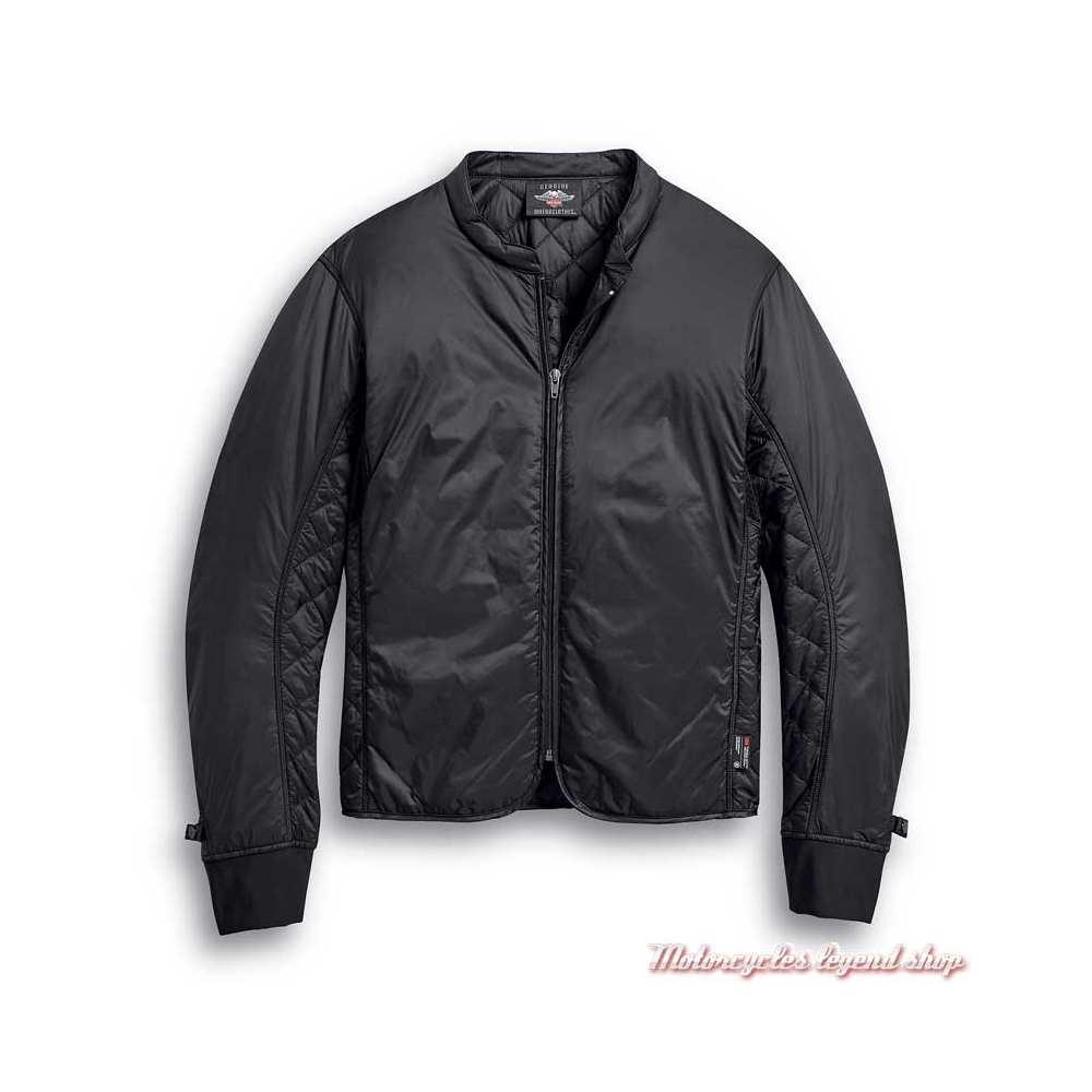 Blouson cuir Vanocker Harley-Davidson homme, noir, waterproof, triple vent, doublure, 98000-20EM