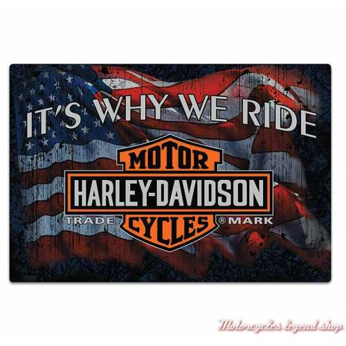 Plaque métal Why We Ride Harley-Davidson