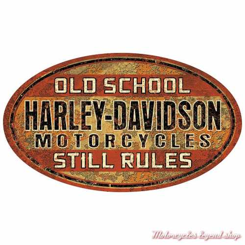 Plaque métal Old School Harley-Davidson