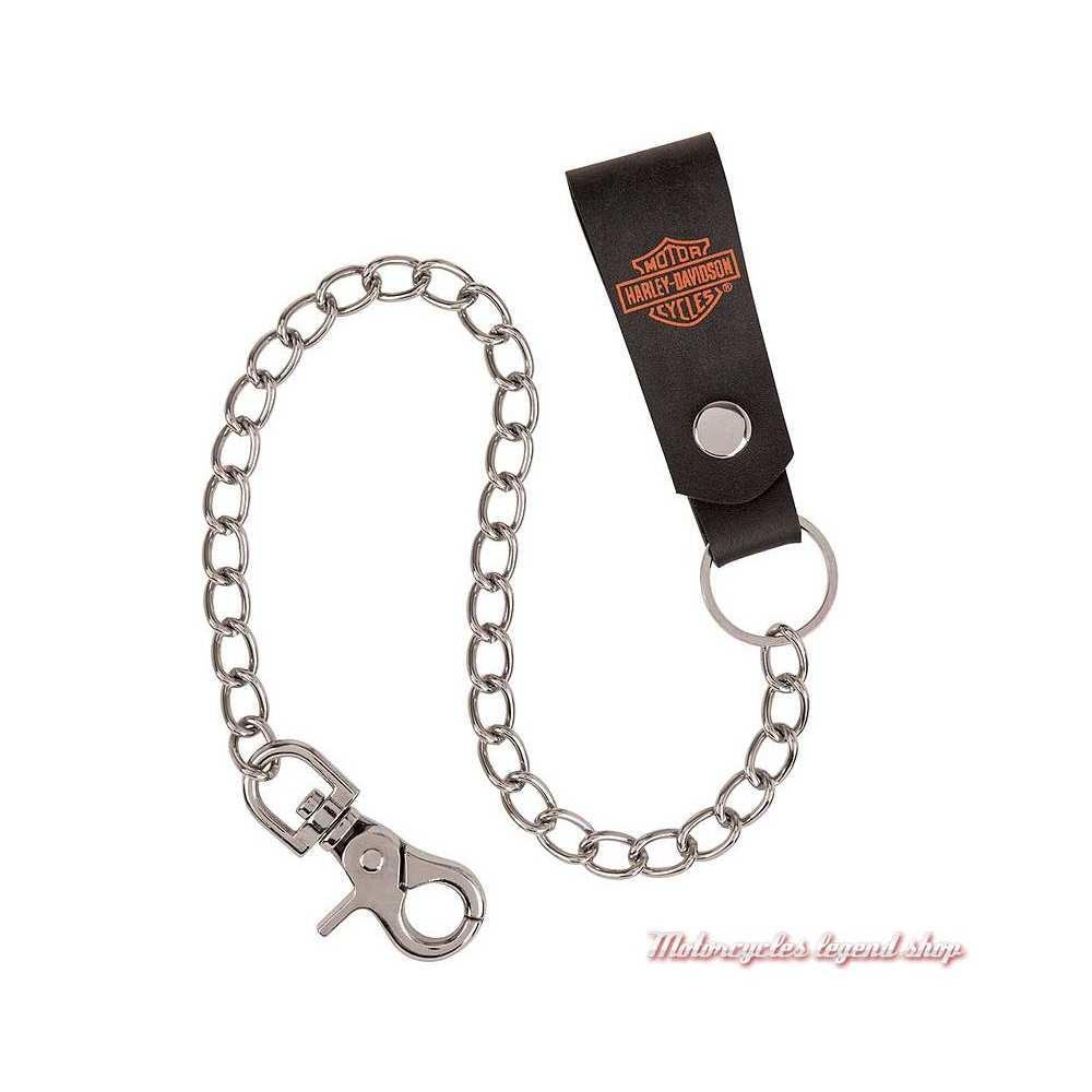 Chaine de porte monnaies Bar & Shield cuir Harley-Davidson HDMWC11335