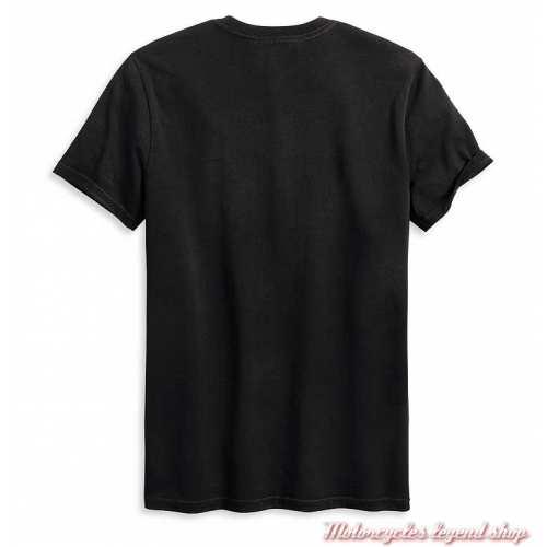 Tee-shirt Engine Harley-Davidson homme, noir, manches courtes, coton, dos, 96135-20VM